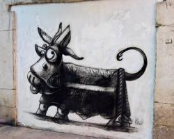 I Picassos barndomsstad görs vacker graffiti.