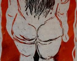 Botero inspirerade till det här ännu namnlösa linoleumtrycket.