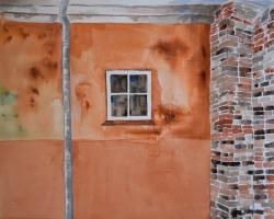 Köpenhamn i Dalby. Akvarell.