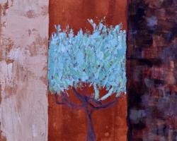 Trängsel. Akryl på duk. Pigment från Provence! 35x26. SÅLD