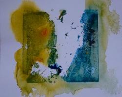 Akvarelltryck, 25x25
