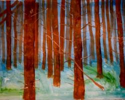 Det tysta ljuset. Akvarell på helt ark, 57x75. SÅLD.