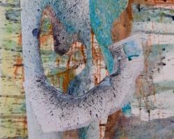 Braque och jag! Akvarell-collage.