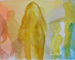 Mäktiga skuggor. Akvarell
