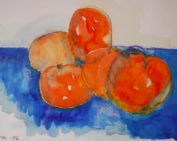 Tomater. En av mina första akvareller.