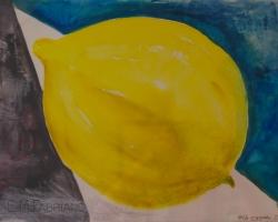 Citron. Akvarell, en av mina första i denna fas.