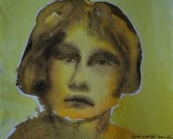 Gud, varför har du övergivit mig? Efter foto från Citadellet, kvinnofängelse tidigt 1900-tal. Akvarell. SÅLD