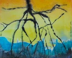 Den vandrande juden. Akvarell, tusch. SÅLD