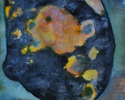 Om jorden inte var rund. Akvarell på handgjort papper.SÅLD