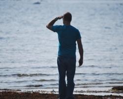 Mats spejar, ut över havet