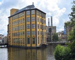 Arbetets museum i Norrköping så vackert och härligt placerat. Sveriges Venedig?